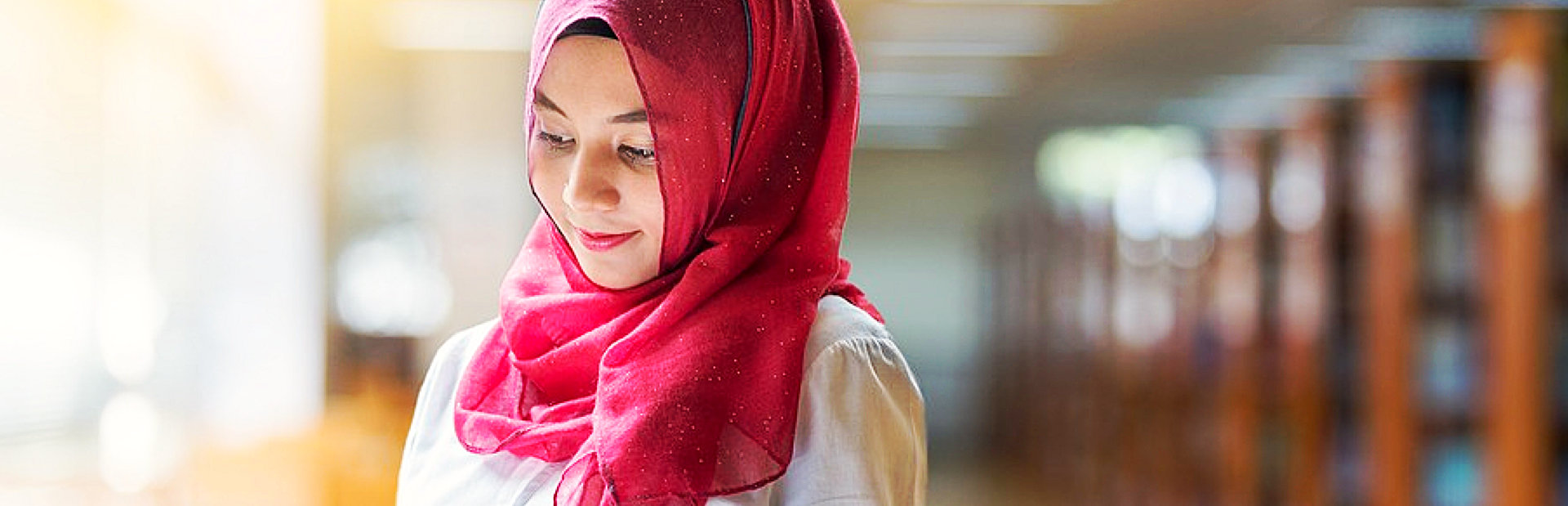 beautiful young female muslim