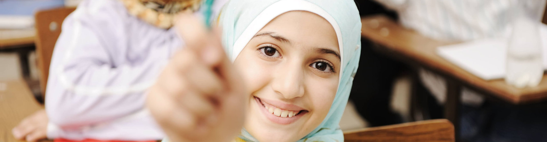smiling young muslim